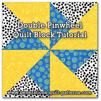 Double Pinwheel quilt block