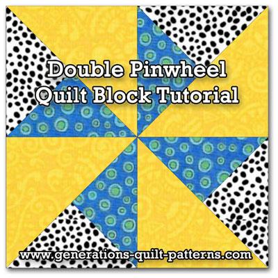 how to make a pinwheel quilt block