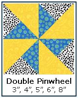 Double Pinwheel quilt block tutorial