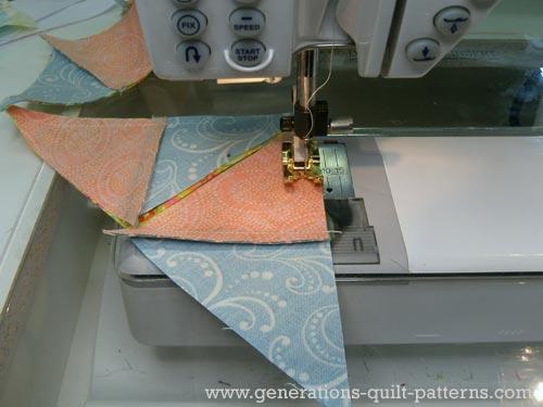 Stitch the second seam of the QST unit