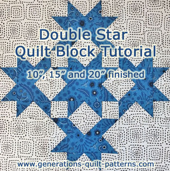 Page 2 of the Double Star Block tutorial starts here.
