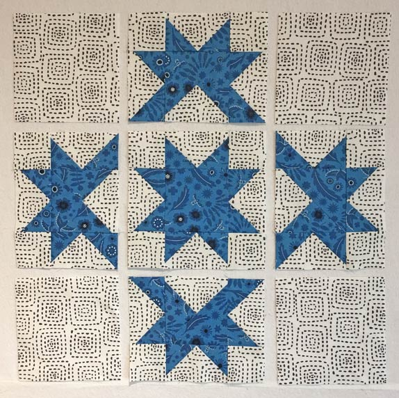 Patches arranged in the Double Star design