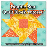 Double Star quilt block instructions