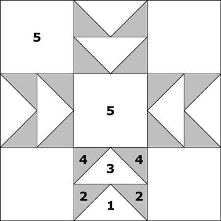Double T quilt block design