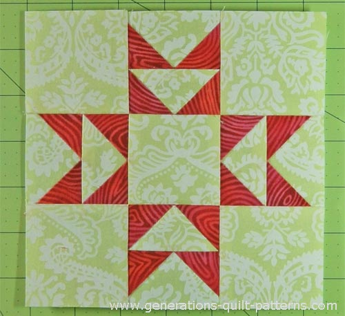 The finished Double T quilt block