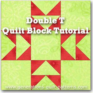 Double T quilt block instructions