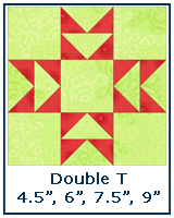 Double T quilt block tutorial