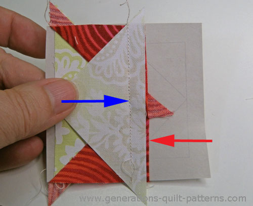 Trim the seam allowance to prevent shadowing