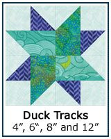 Duck Tracks quilt block tutorial