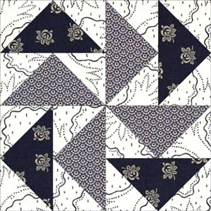 No Waste Flying Geese Quilt Blocks