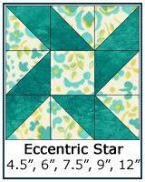 Eccentric Star quilt block tutorial