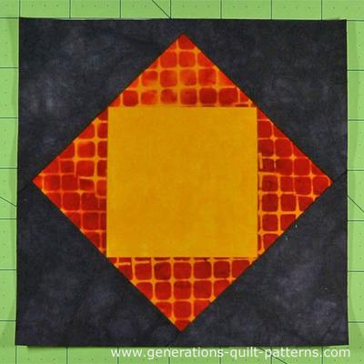 A Square in a Square in a Square AKA 'The Economy Quilt Block'