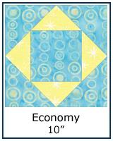 Economy quilt block tutorial - 10inch block