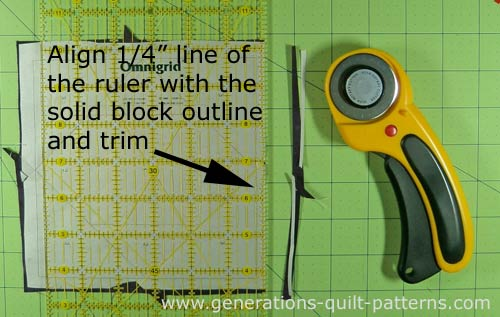 Trim the block to size