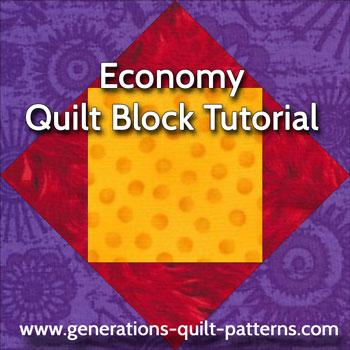 Economy quilt block pattern tutorial