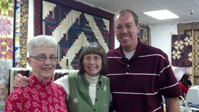 Ed, Jean and Janis of Ed and Jean's Quilt Shop