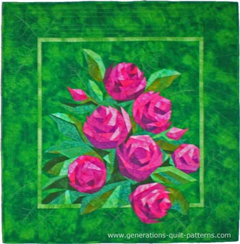 English Rose, quilt design by Eileen Sullivan, pieced and quilted by Julie Baird