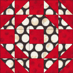 English Wedding Ring quilt block design