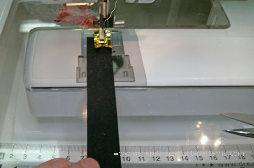 Sew the #8 and #9 strip together along the long edges