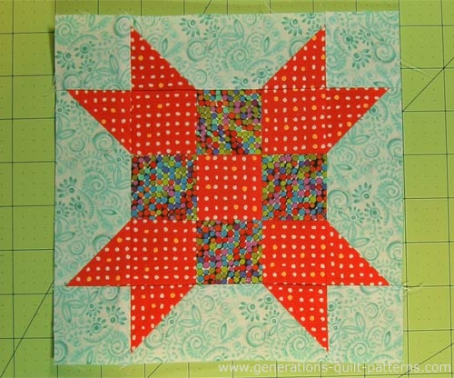 The finished Farmer's Daughter quilt block