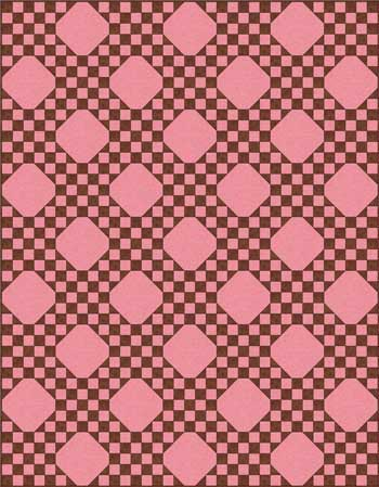 Federal Chain Quilt Pattern - straight set