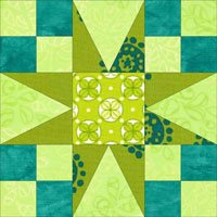 54-40 or Fight quilt block