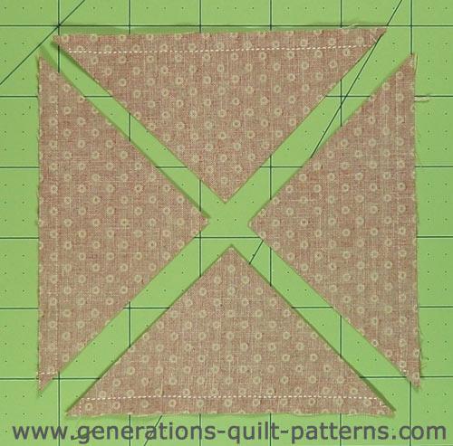Sewn patch subcut into 4 units