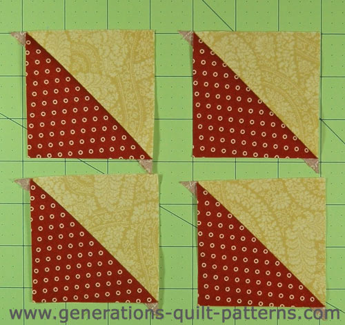 Finished half square triangle units