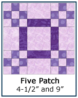 Five Patch quilt block tutorial