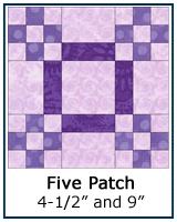 Five Patch quilt block tutorial