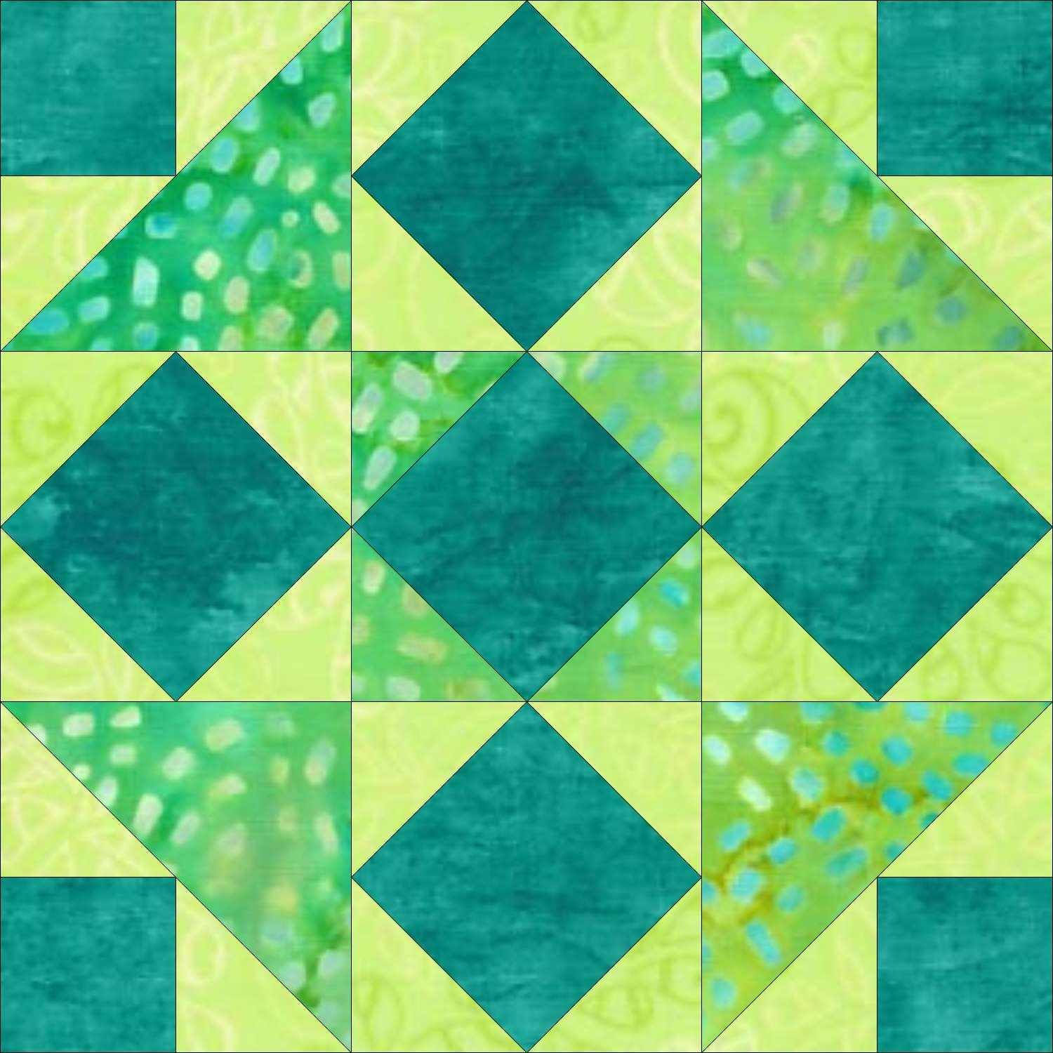 Five Spot quilt block design