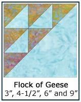 Flock of Geese quilt block
