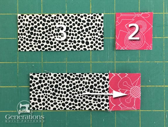 Sew a #2 to a #3