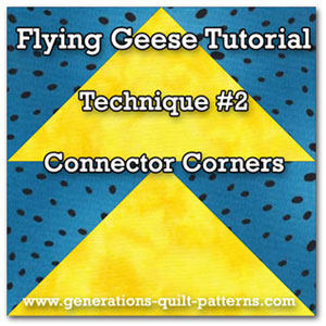 Flying Geese quilt block tutorials #2 of 6