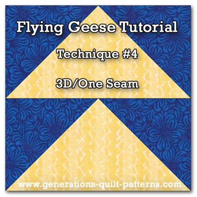 3D Flying Geese quilt block
