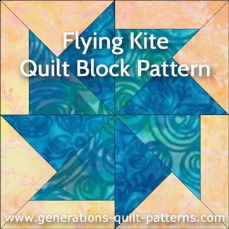 Flying Kite quilt block instructions