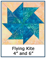 Flying Kite quilt block tutorial