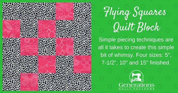 The Flying Square quilt block tutorial starts here