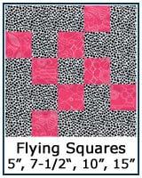 Flying Squares quilt block tutorial