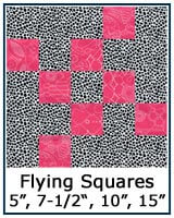 Flying Squares quilt block tutorial