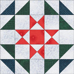 Foot Stool quilt bloc design, variation 1
