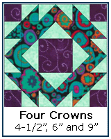Four Crowns quilt block tutorial