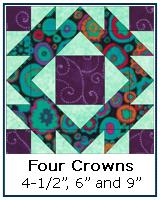 Four Crowns quilt block tutorial