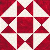 Four X quilt block
