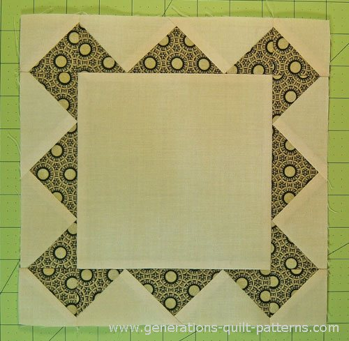 The finished Frame quilt block