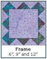 Frame quilt block tutorial