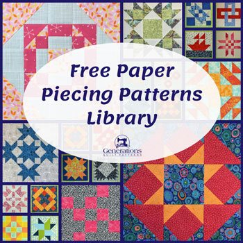 graphic regarding Baby Quilt Patterns Free Printable named Cost-free Paper Piecing Routines Library