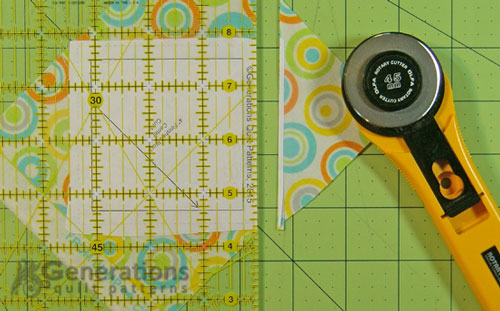 Trim excess away with a rotary cutter