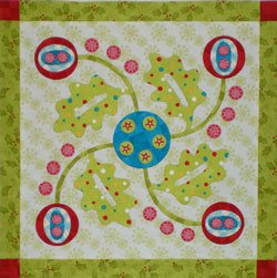 Invisible machine applique quilt block