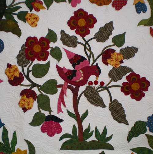 Hand appliqued 'Mary Brown', quilt by Trudy Wasson